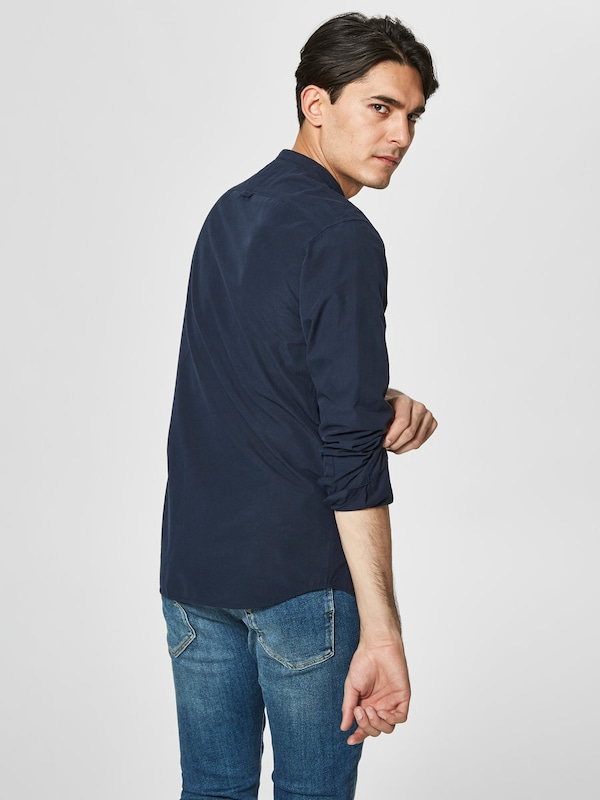 SELECTED HOMME Slim Fit Hemd mit Mandarinkragen