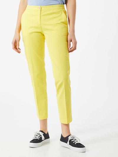 BRAX Pantalon chino 'Maron' en jaune, Vue avec modèle