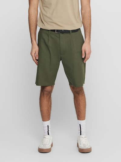 Only & Sons Shorts 'ONSLOU' in oliv, Modelansicht
