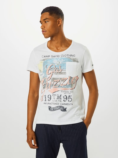 CAMP DAVID T-Shirt '1/2' en mélange de couleurs / blanc: Vue de face