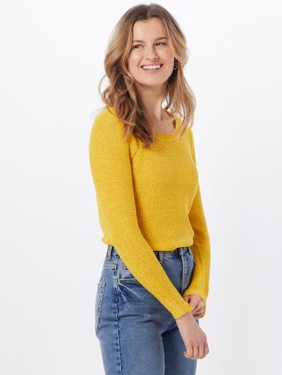 ONLY Pull-over 'Onlgeena' en jaune, Vue avec modèle