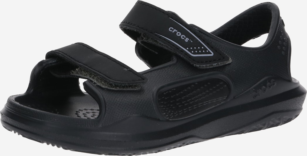 Crocs Sandel 'Swiftwater River' in grau / schwarz, Produktansicht