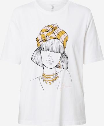 balta ONLY Marškinėliai 'Violet'