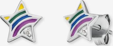 Engelsrufer Ohrstecker 'Stern Rainbow' in Silber