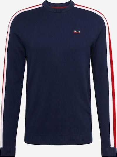 JACK & JONES Pullover 'BADGE' in dunkelblau, Produktansicht