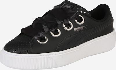 PUMA Sneaker 'Platform Kiss' in schwarz / weiß: Frontalansicht