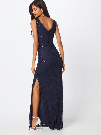 STAR NIGHT Abendkleid 'long dress lace & sequins' in navy: Rückansicht
