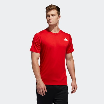 ADIDAS PERFORMANCE Functioneel shirt in de kleur Lichtrood / Wit: Vooraanzicht