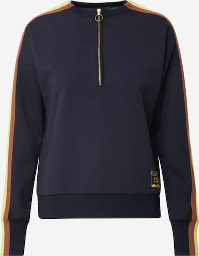 SCOTCH & SODA Sweatshirt in navy / braun / gelb / weiß, Produktansicht