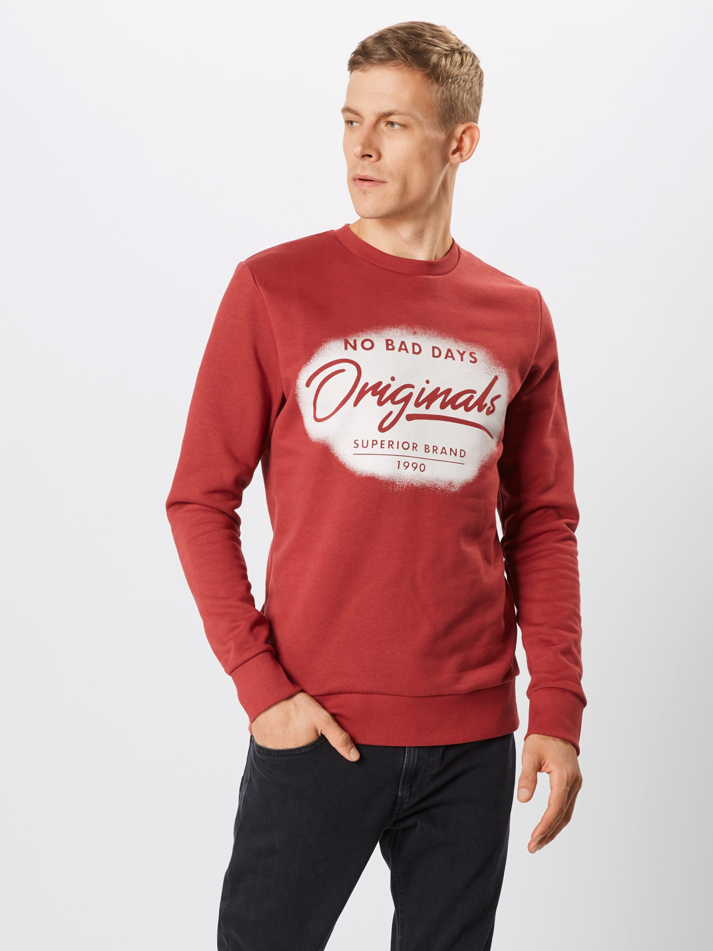 Sweatshirt Jackamp; Jones In RostrotWeiß Jackamp; Jones Sweatshirt In D29IEH