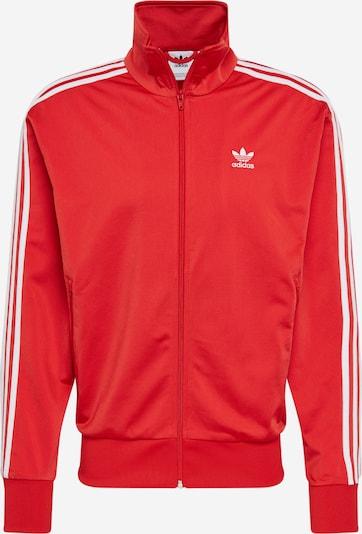 ADIDAS ORIGINALS Sweatjacke 'Firebird' in rot / weiß, Produktansicht