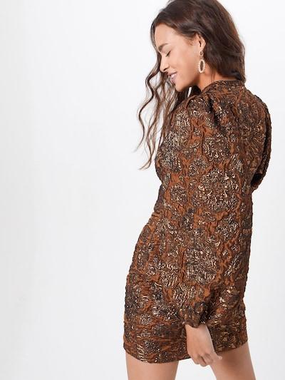 Kokteilinė suknelė 'Harriet 11334' iš Samsoe Samsoe , spalva - ruda: Vaizdas iš galinės pusės