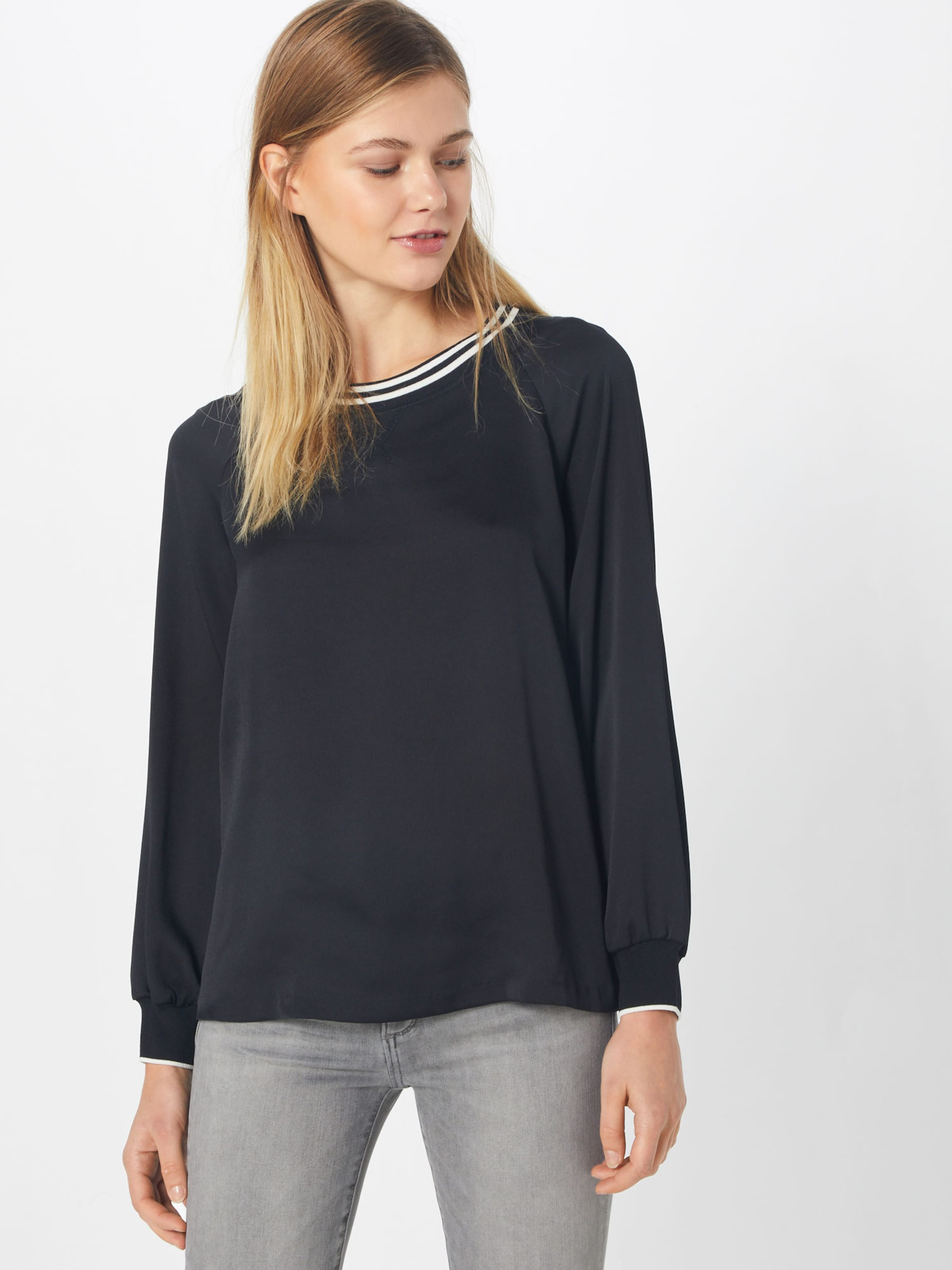 Trim Noir Sweat Republic Top' 'ls Varsity Banana En shirt jAR35L4