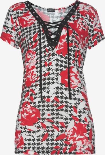 LAURA SCOTT T-Shirt in rot / schwarz / weiß, Produktansicht