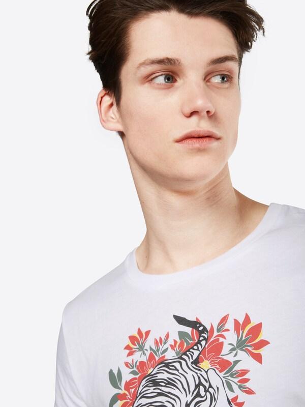 TOM TAILOR DENIM T-Shirt 'Tee with Tigerflowermix print'