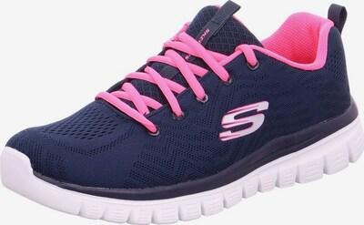 SKECHERS Sneaker 'Graceful' in navy / dunkelpink: Frontalansicht