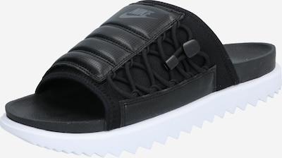 Saboți Nike Sportswear pe negru / alb, Vizualizare produs