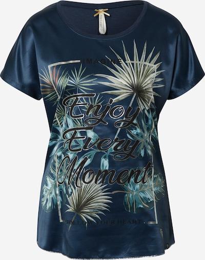 Key Largo Shirt 'ENJOY' in navy / mischfarben: Frontalansicht