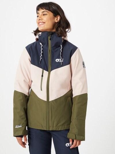 Picture Organic Clothing Sport-Jacke 'Week End' in dunkelblau / grün / mischfarben: Frontalansicht