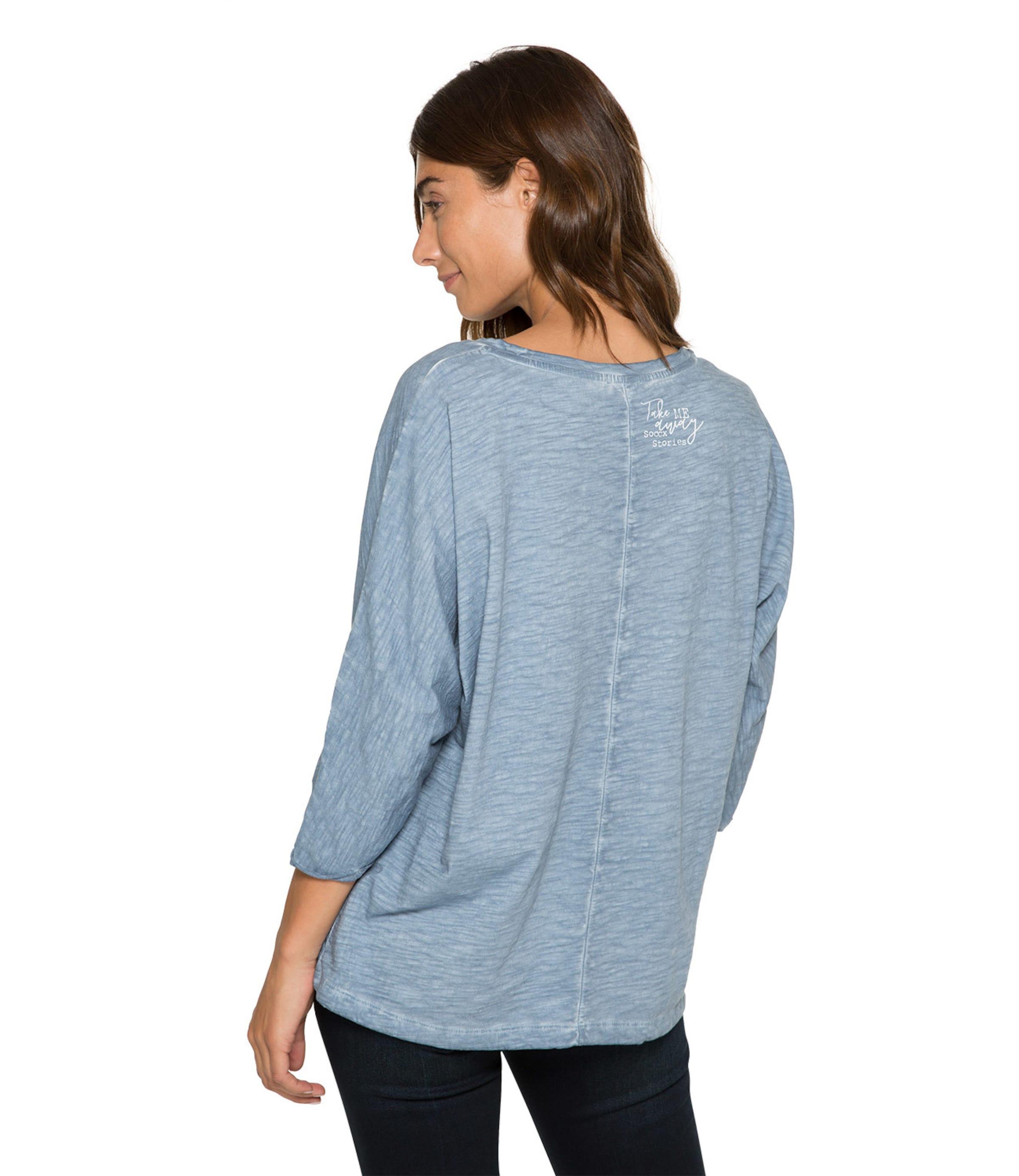 Shirt TaubenblauWeiß Shirt In In Soccx Soccx 54qc3jARL