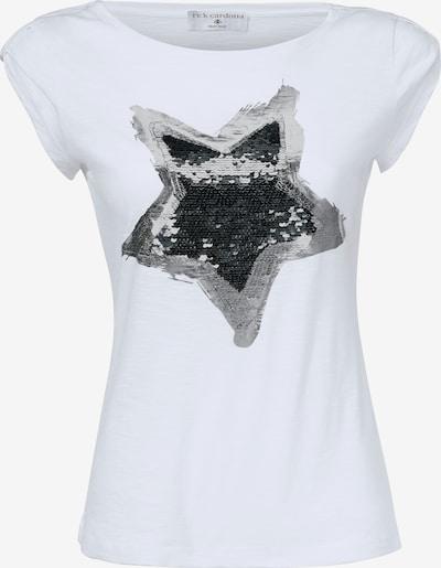heine Rundhalsshirt in graphit / weiß: Frontalansicht