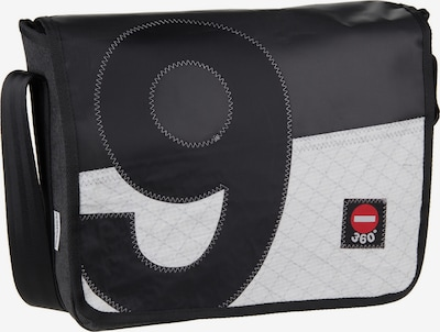 360 Grad Umhängetasche ' Barkasse K. ' in schwarz / weiß, Produktansicht