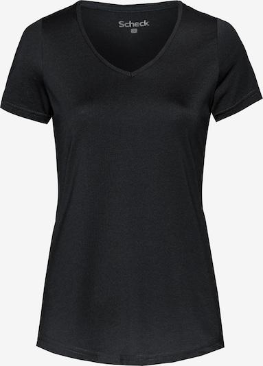 Scheck T-Shirt in schwarz, Produktansicht