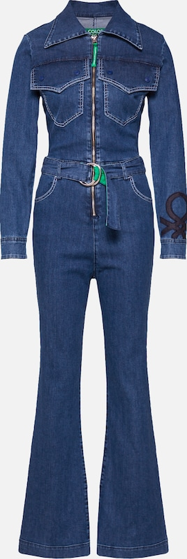 UNITED COLORS OF BENETTON Jumpsuit 'OVERALL' in de kleur Blauw, Productweergave