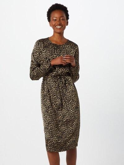 MOSS COPENHAGEN Košilové šaty 'Cannamie Celie' - zlatá / černá, Model/ka
