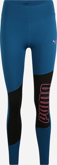 PUMA Trainingsleggings 'Favourite Logo' in blau / pink / schwarz, Produktansicht