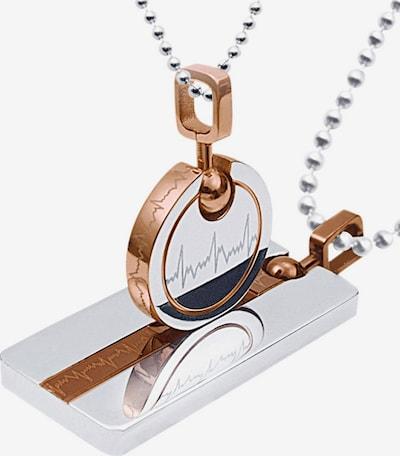 FIRETTI Partnerschmuck 'Herzschlag' in grau, Produktansicht