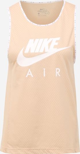 NIKE Sportovní top - béžová / bílá, Produkt