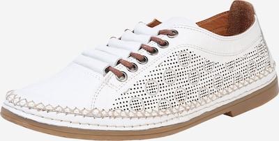 COSMOS COMFORT Sportieve veterschoen in de kleur Bruin / Wit, Productweergave