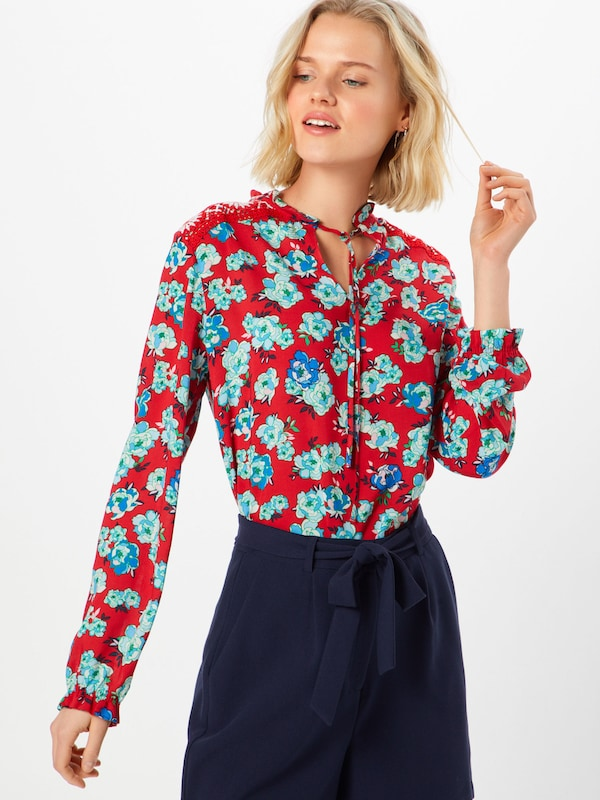 oliver TurquoiseLichtrood Wit Blouse In Label S Red ZTkXOPiwu