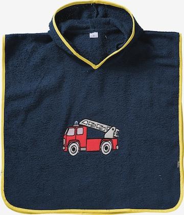 PLAYSHOES Bathrobe 'Feuerwehr' in Blue
