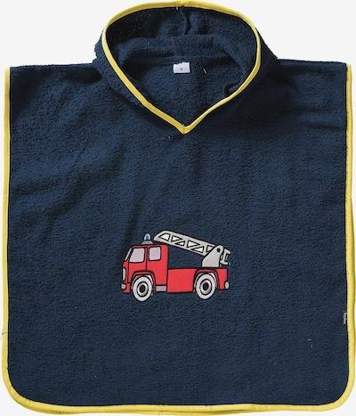 PLAYSHOES Poncho 'Feuerwehr' in navy / gelb / hellgrau / rot, Produktansicht