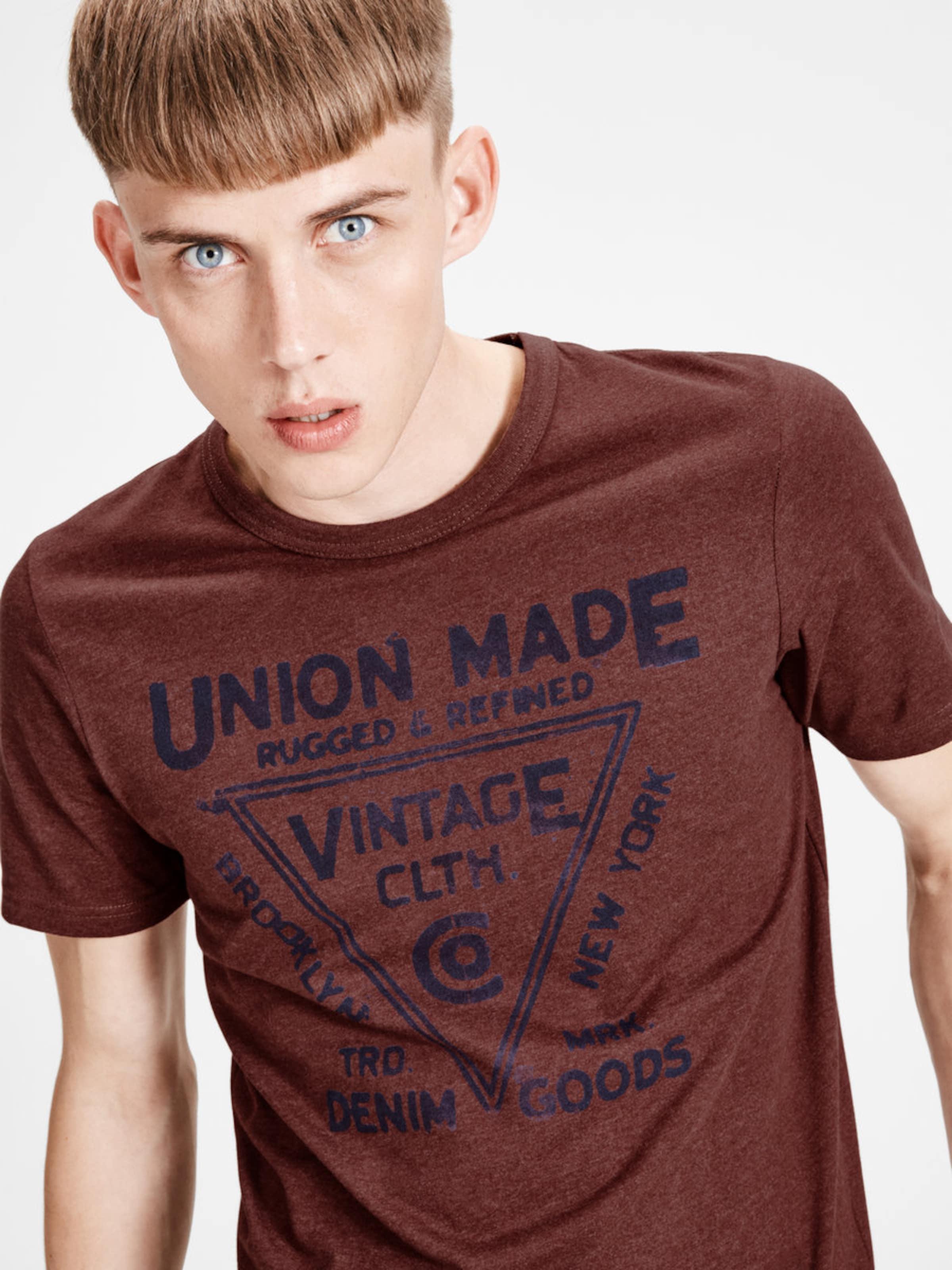 JACK & JONES T-Shirt Lässiges Billig Verkauf Sammlungen 100% Authentisch Vermarktbare Günstig Online Billig Verkaufen Große Überraschung Verkauf Original FAfm76Rrv