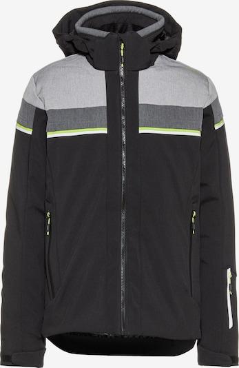 CMP Skijacke in hellgrau / graumeliert / neongrün / schwarz, Produktansicht