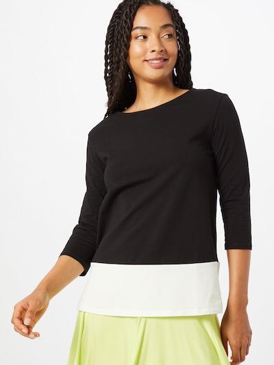 Weekend Max Mara Shirt 'Multia' in de kleur Zwart / Wit: Vooraanzicht