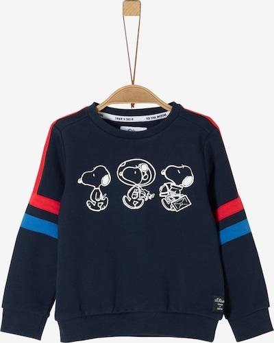 s.Oliver Junior Sweatshirt in blau / nachtblau / rot, Produktansicht