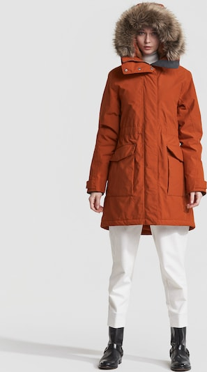 Didriksons Winterparka 'Meja' in orange, Produktansicht