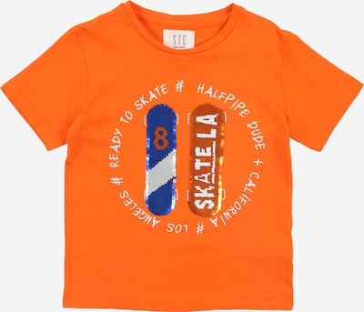 STACCATO Shirt in blau / dunkelorange / weiß: Frontalansicht