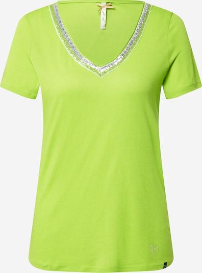 Key Largo T-Shirt 'Mila' in silbergrau / neongrün, Produktansicht