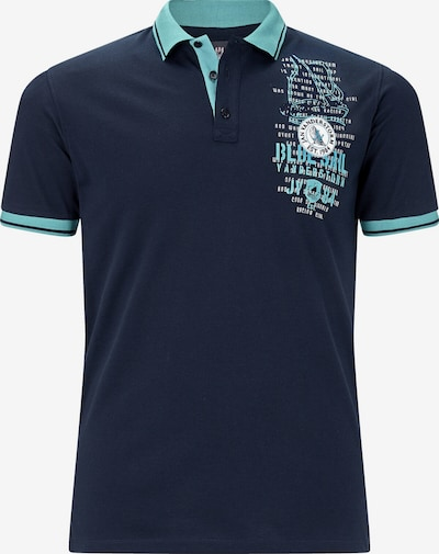 Jan Vanderstorm Poloshirt ' Dagnar ' in türkis / dunkelblau, Produktansicht