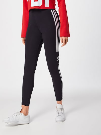 ADIDAS ORIGINALS Leggings 'Trefail' i sort / hvid, Modelvisning