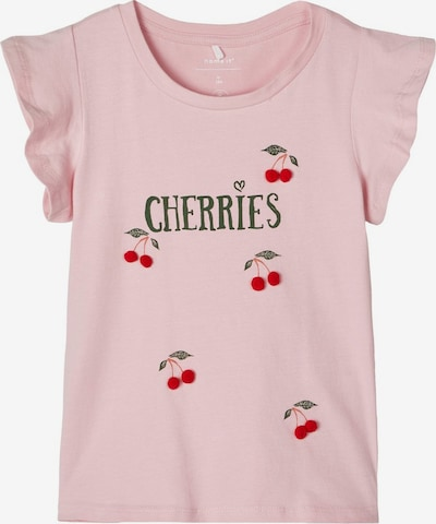 NAME IT Shirt in tanne / rosa / rot, Produktansicht