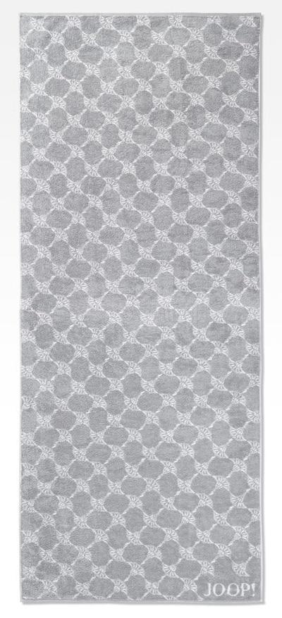 JOOP! Badlaken 'Cornflower' in de kleur Zilvergrijs / Lichtgrijs, Productweergave