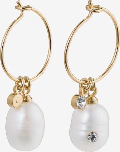 arany / fehér Pilgrim Fülbevalók 'Love', Termék nézet