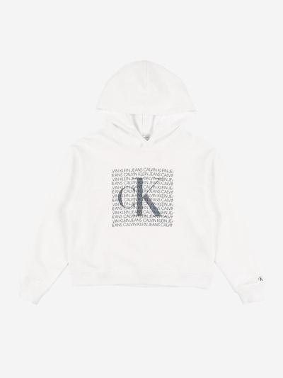 Calvin Klein Jeans Sweatshirt in weiß: Frontalansicht