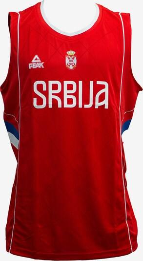 PEAK Basketballtrikot Serbien 2016 in blau / rot / weiß, Produktansicht